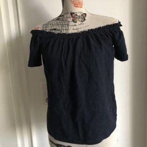 Vero Moda Bluzka typu carmen ciemnoniebieski