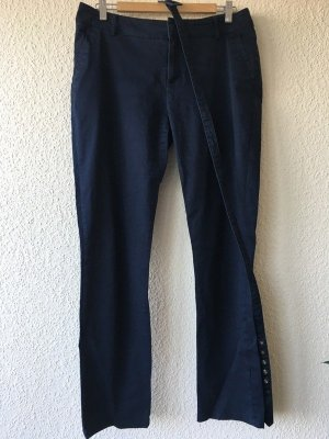 Yessica Jersey Pants dark blue cotton