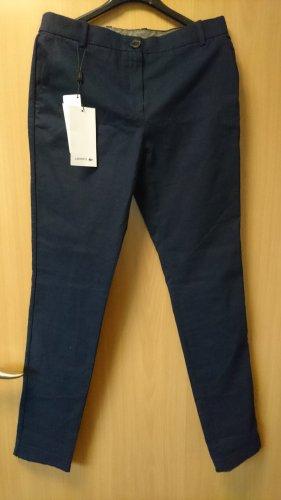 dunkelblaue Chino-Hose Gr. 36 Lacoste aus Garbadine neu mit Etikett