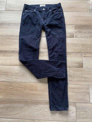 Acne Studios Spodnie sztruksowe ciemnoniebieski-niebieski Bawełna