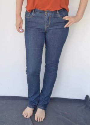Colours of the World Low Rise Jeans steel blue cotton