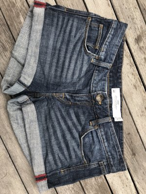 dunkelblaue Denim Shorts