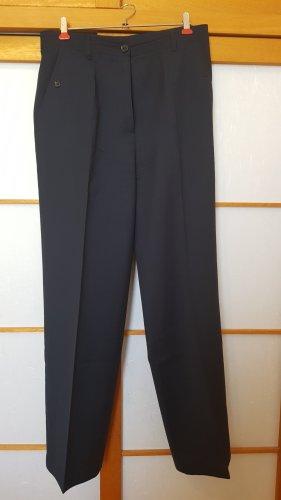 Laura Ashley Pantalone di lana blu scuro Lana vergine