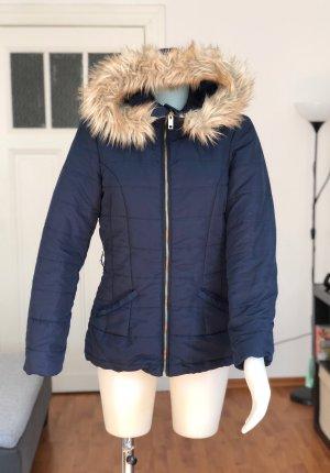 H&M Fur Jacket dark blue