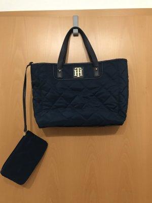 Tommy Hilfiger Canvas Bag dark blue-gold-colored
