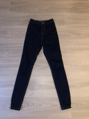 Noisy May Jeans a vita alta blu scuro