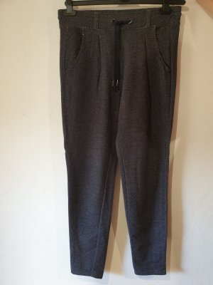 Tom Tailor Denim Pantalon en laine blanc-bleu foncé