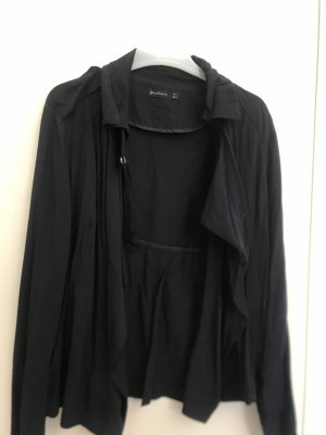 Stradivarius Blouse Jacket dark blue
