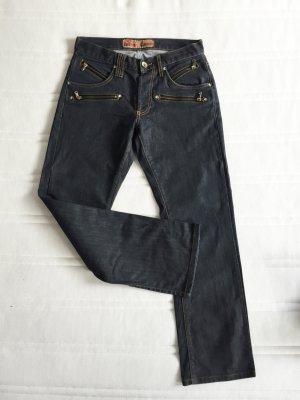 James jeans Jeansy typu boyfriend Wielokolorowy Tkanina z mieszanych włókien