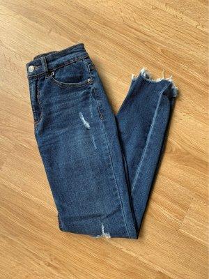 Pull & Bear Vaquero skinny azul oscuro
