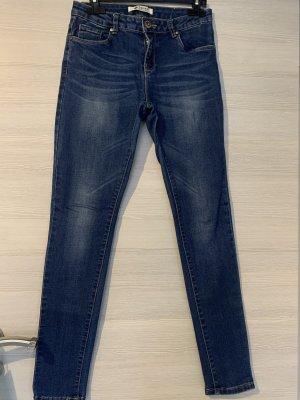 Toxik3 Jeans a sigaretta blu scuro