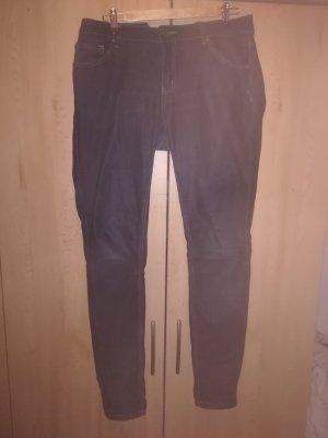 Zero Pantalone cinque tasche blu scuro Cotone