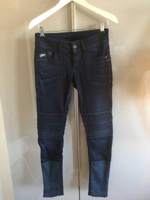 G-Star Raw Biker Jeans dark blue cotton