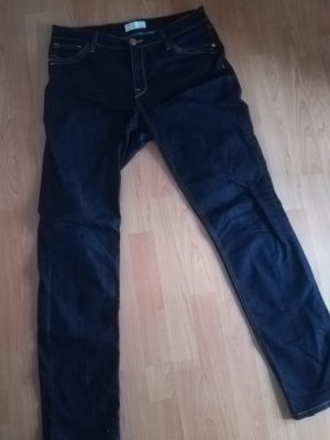 CROSS JEANS Peg Top Trousers dark blue cotton