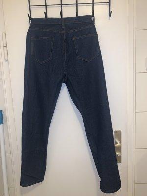 Bohoo Jeans taille haute bleu foncé