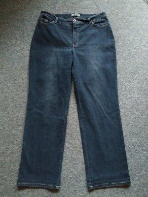 Ascari Jeans a gamba dritta blu scuro Tessuto misto
