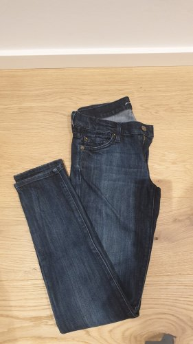 7 For All Mankind Jeans coupe-droite bleu coton