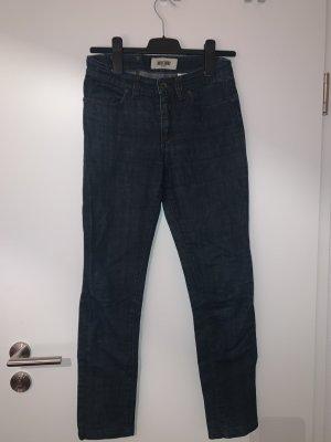 Moschino Jeans Vaquero de motero azul oscuro Algodón