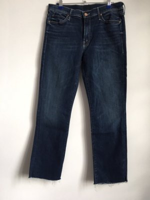 "Dunkelblaue Jeans von Mother ""The Rascal""."