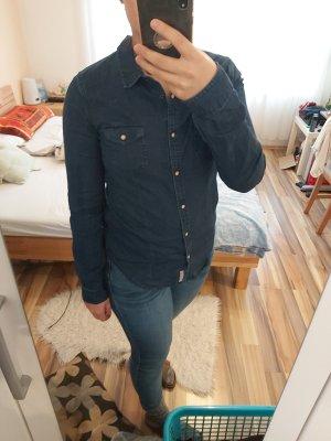 Dunkelblaue Jeansbluse