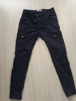 H&M L.O.G.G. Biker Jeans dark blue