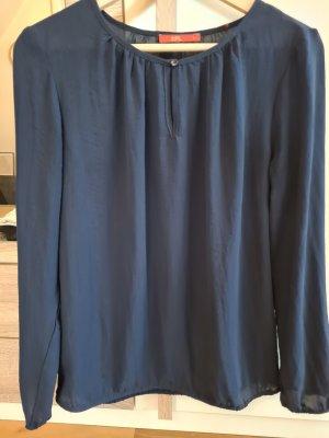 dunkelblaue langarm Bluse