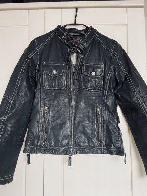 Oakwood Leather Jacket dark blue