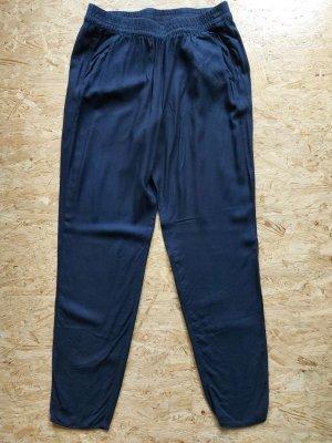 H&M Divided 7/8-broek donkerblauw Viscose