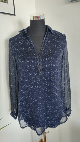 dunkelblaue leichte Bluse