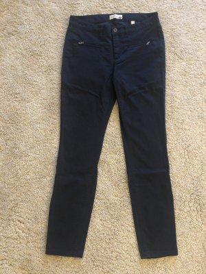 Dunkelblaue leichte Sommer-Stoffhose, Jeans-Style