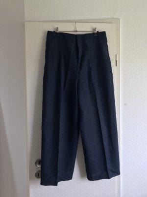 Zara Pantalon en lin bleu foncé