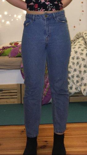 Jeans a carota blu scuro