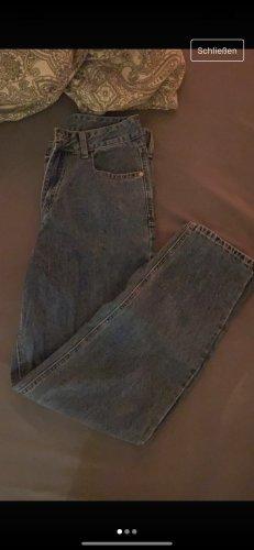 Sheinside Pantalone a vita alta blu scuro