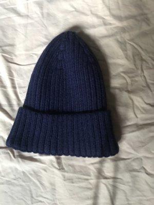 Asos Knitted Hat dark blue-blue