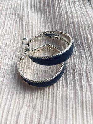 Créoles gris clair-bleu foncé
