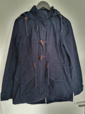 dunkelblaue Peckott-Regenjacke