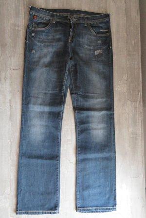 Dunkelblaue Puma Jeans mit used Optik