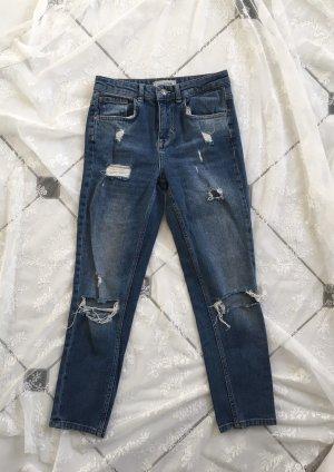 Pimkie Hoge taille jeans staalblauw-blauw