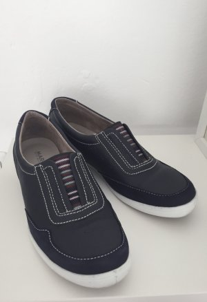 Dunkelblaue Schlüpfschuhe NEU von Marc Shoes Art of Walking aus Echtleder