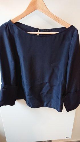 COS Blusa in seta blu scuro