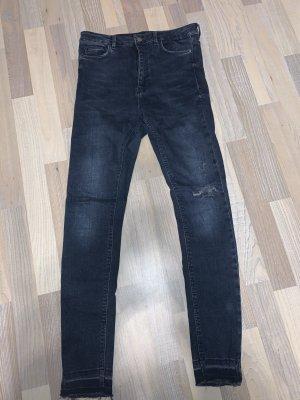 Zara Jeans a vita alta blu scuro