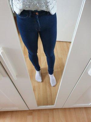 Dunkelblaue Skinny Jeans mit hohem Bund von H&M