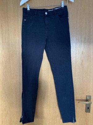 Review Jeans taille haute bleu foncé