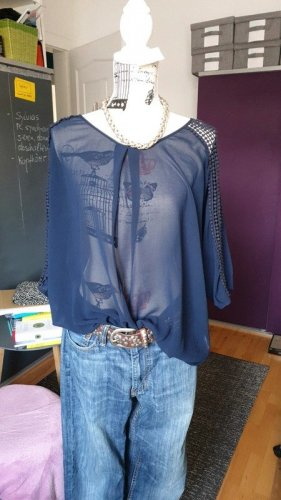 Darling Long Sleeve Blouse blue-steel blue