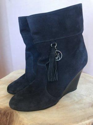 dunkelblaue Stiefelette von Armani