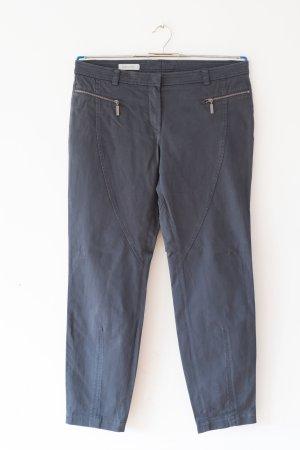 dunkelblaue Stoffhose