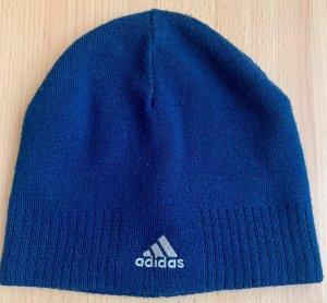 Adidas Sombrero de tela azul oscuro