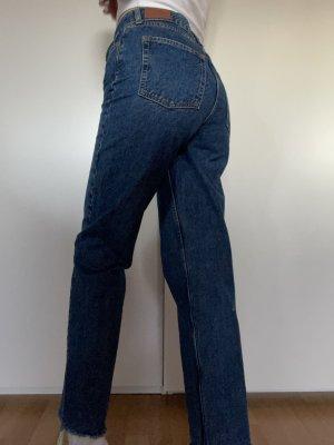 BDG Jeansy z prostymi nogawkami ciemnoniebieski-niebieski