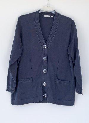 Rabe Knitted Vest dark blue cotton