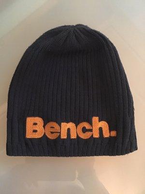 Bench Cappello a maglia blu scuro-arancione
